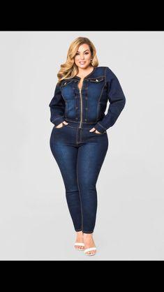 5ddaa3a68c1 Contrast Stitch Skinny Jean-Plus Size Denim-Ashley