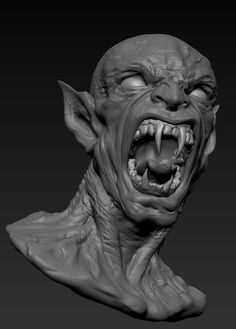 I am still very new to Zbrush and these two Alien portraits are my and Zbrush work. I am still feeling out Zbrush and learning as I go and I look forwa… Arte Horror, Horror Art, Goblin Art, Humanoid Creatures, Evil Art, Cool Monsters, Classic Horror Movies, Mythical Creatures Art, Dark Tattoo
