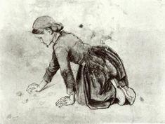 Girl Kneeling 1881 Vincent van Gogh