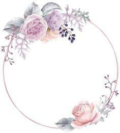 45 Ideas For Vintage Fondos Lila Flower Graphic Design, Bg Design, Art Floral, Floral Prints, Flower Circle, Flower Frame, Pearl Bridal Shower, Molduras Vintage, Botanical Line Drawing