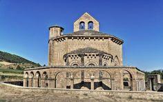 Santa María de Eunate, vista del ábside - Valle de Valdizarbe, Muruzabal, Comunidad Foral de Navarra