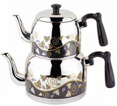 Menekşe Orta Desenli Çaydanlık ( 2,2 lt – 1,2 lt) - Güven Evim