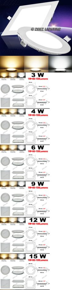 Household Items 6W 9W 12W 15W 18W Led Recessed Ceiling Panel Down Lights Bulb Slim