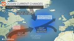 "A ""blob"" of abnormally cold water in the North Atlantic, located near Greenland, has the potential to put enough drag on the ocean current to impact weather conditions in the years to come."