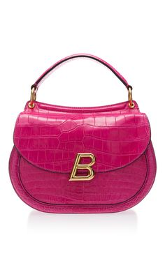 Ballyum Large Shoulder Bag by BALLY for Preorder on Moda Operandi Pink Shoulder Bags, Large Shoulder Bags, Shoulder Handbags, Handbag Accessories, Fashion Accessories, Hot Pink Fashion, Bally Bag, Purses And Bags, Shoe Bag