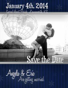 Winter Save the Date | Save the Date Design | Joe R Geske Photography | Manhattan Kansas Photographer | Kansas Wedding and Engagement Photographer