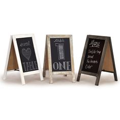 Retail Display Wooden Blackboard - Small. wouldnt use for retail but could use for a lot of other applications.