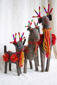 Chiapas Wool Reindeer ♥