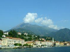 Lake Como waterfront in Menaggio, Italy