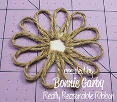 Jute Loopy Flower Tutorial