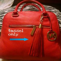 Beautiful  RED LEATHER TASSELS silver hrdwre Add more glance to your favorite purse, wallets, clutch, wristlet with    this leather tassels   they are 100% leather new without tag can be also use as key fob   more colors available check with my listing :-) * price for one tassel* MICHAEL Michael Kors Bags Clutches & Wristlets