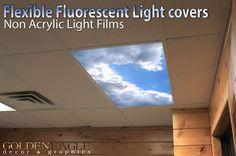 Flexible Fluorescent Light Cover Films Skylight Ceiling Office Medical Dental 88 | eBay