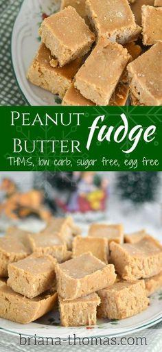 Peanut Butter Fudge....THM:S, low carb, sugar free, egg free