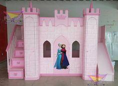 Lit Château de princesse en bois – Cabane enfant sur mesure (Nord ...