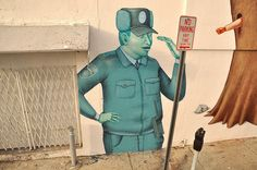 """ Traffic cop"". Mural detail. Interesni Kazki"