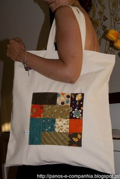- shopping bag - My stuff embroidery sweets embroidery inspiration embroidery beautiful Bag Patterns To Sew, Sewing Patterns, Quilt Making, Bag Making, Rose Stencil, Painted Bags, Patchwork Bags, Market Bag, Tote Bag