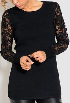23669197fde8 Misha Pullover in Black Lace Dressy Casual Outfits