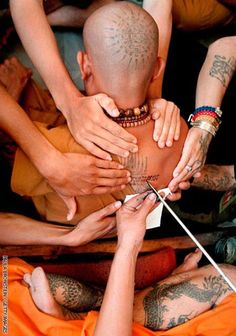 Visit Thailand and receive tattoo from a Buddhist Monk. . .
