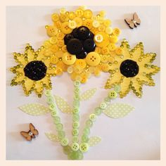 Custom order for a lovely lady who loves sunflowers www.facebook.com/buttonsNbutterflies
