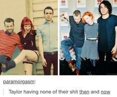 I hate it when people make Paramore boards and pin only pics of Hayley. Taylor & Jeremy are just as great as her. They deserve more credit. Paramore is Paramore, not Parahayley.