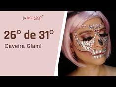 26º de 31º- Maquiagem Caveira Glam-Tutorial - Halloween 2020 - YouTube Halloween Face Makeup, Youtube, Skull Face Makeup, Youtubers, Youtube Movies