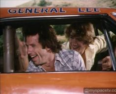 Bo and Luke in the General Lee