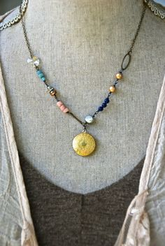 Alexa. boho beaded layered charm necklace. by tiedupmemories, $38.00