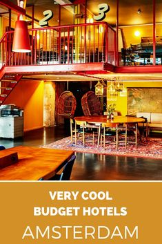 Cool budget hotels in Amsterdam. Looking for an affordable hotel in Amsterdam that also looks nice and guarantees a good night sleep? These budget hotels in Amsterdam are oh so cool, check them out.