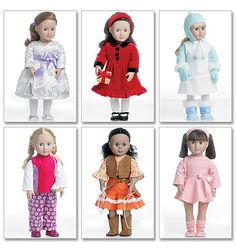 """mccall's 6257... clothes for 18"""" doll such as american girl (sewing pattern to purchase)"""