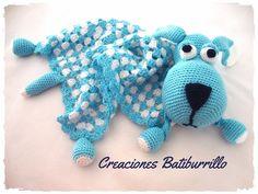 Amigurumi Lion Perritos : Colcha con perritos dormilones o manta de apego tejida a crochet