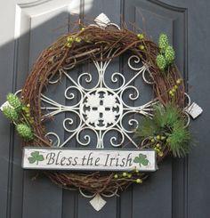 Elegant #wreath for St. Patrick's Day