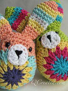 Easy Easter Bunny by Janette Williams #freepattern #crochet