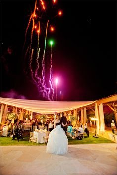 wedding fireworks #wedding #fireworks #reception http://www.weddingchicks.com/