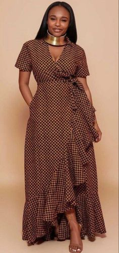 Latest African Fashion Dresses, African Print Dresses, African Dresses For Women, African Print Fashion, African Attire, Women's Fashion Dresses, Ankara Dress Designs, African Fashion Traditional, African Inspired Clothing