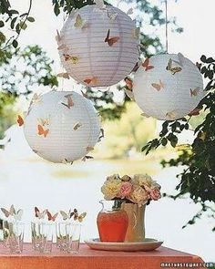 White papper ballons