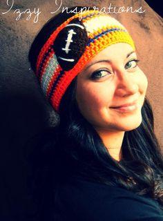 Football Headband Earwarmer! In your team colors! #broncos #denver #milehighmagic #unitedinorange