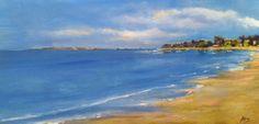 Original Oil Painting Rincon Beach by ArtbyMicheleZuzalek on Etsy, $275.00