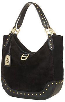 718ebead1454 Lauren Ralph Lauren Saddle Brook Leather Hobo Bag
