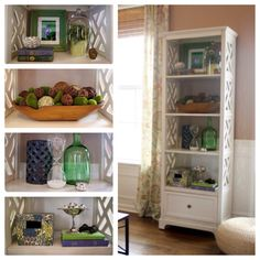 How I #decorate a #bookcase