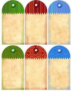 Etiquetas para regalos, tarros, postales etc... | Aprender manualidades es facilisimo.com