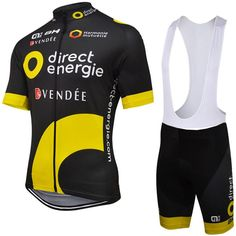 ae2bfffbc Direct energie BH ALE 2016 short sleeve cycling jersey bib shorts shirt set  clothes sport jersey