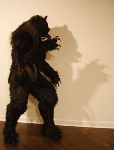 werewolf costume DIY, this is a little scary for a 7 year old, but he wants to be a werewolf for next Halloween