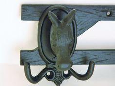 Vintage Coat Rack Key Hook Home Decor Equestrian Cast Iron.via Etsy. Equestrian Fashion, Equestrian Style, Horse Riding Fashion, Cast Iron, It Cast, Vintage Coat Rack, Key Hooks, Horses, Trending Outfits