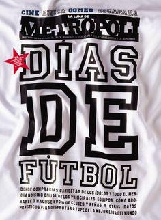 football shirt style typography