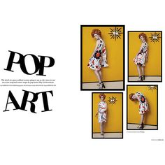 'Pop Art' Kelly Mittendorf by An Le for L'officiel Singapore March... ❤ liked on Polyvore featuring words, text, article, phrase, quotes and saying
