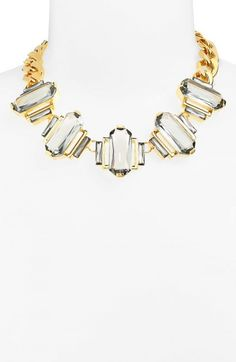 Vince Camuto Blush Factor Stone Frontal Necklace | Jewelry and Accessory
