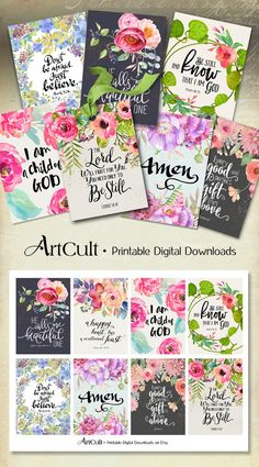 ArtCult Printable Images are great for your art and craft projects. This is a digital product. You can print these images as many times as you need. Printable Bible Verses, Scripture Cards, Mothers Day Drawings, Bible Doodling, Bible Covers, Bullet Journal Ideas Pages, Bible Art, Collage Sheet, Prayer Journals