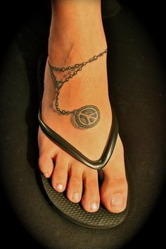Peace Ink Wicked Ink Anklet Tattoos Tattoos Peace Tattoos pertaining to dimensions 800 X 1200 Peace Sign Tattoos On Ankle - Ankle tattoos will almost Anklet Tattoos, Trendy Tattoos, Foot Tattoos, Body Art Tattoos, Tatoos, Charm Anklet Tattoo, Bracelet Tattoos, Small Tattoos, Tattoo Ideas