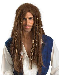 Disney Pirates of The Carribean Jack Sparrow Adult Wig Head Hair Prop Halloween | eBay