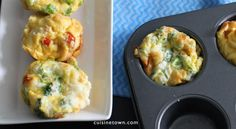 Healthy Easy Breakfast Cups - yummy egg muffins